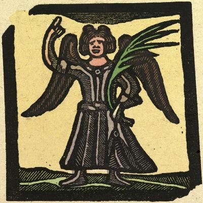 Illustration of English Tales Folk Tales and Ballads, an Angel--Giclee Print