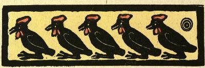 Illustration of English Tales Folk Tales and Ballads. Five Birds--Giclee Print