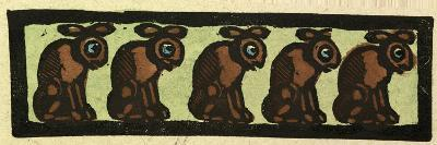 Illustration of English Tales Folk Tales and Ballads, Five Rabbits--Giclee Print