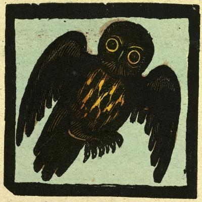 Illustration of English Tales Folk Tales and Ballads, Owl--Giclee Print