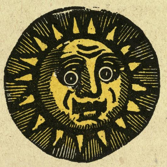 Illustration of English Tales Folk Tales and Ballads. the Face of the Sun--Giclee Print