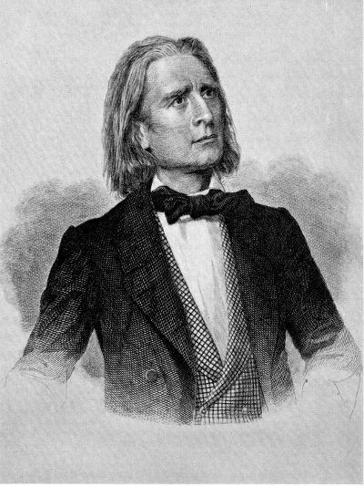 Illustration of Franz Liszt, Hungarian Composer and Pianist--Photographic Print