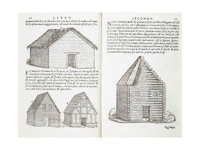 Illustration of House Types-Giovanni Antonio Rusconi-Giclee Print