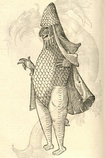 "Illustration of ""Monstrum Marinum Rudimenta Habitus Episcopi Referens""--Giclee Print"