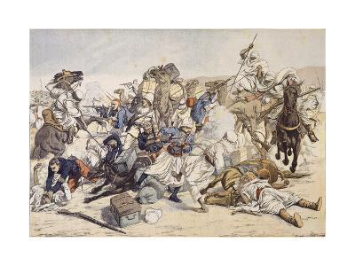 Illustration of Moroccans Attacking French Caravan in 1903--Giclee Print