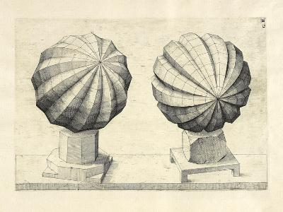Illustration Of Sculpture. Geometric Designs Illustrating Euclidian Principles Of Geometry.-Wenzel Jamnitzer-Giclee Print