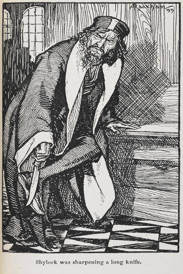 Illustration Of Shylock From the Merchant Of Venice-Arthur Rackham-Giclee Print