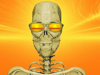 Illustration of Skeleton Enjoying the Sunset-Carol & Mike Werner-Photographic Print