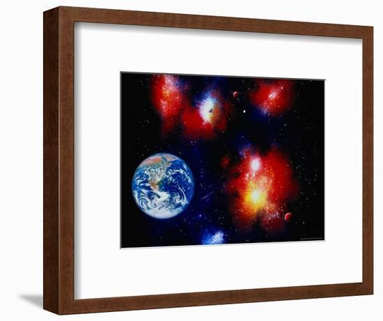 Illustration of Space and Earth-Ron Russell-Framed Photographic Print