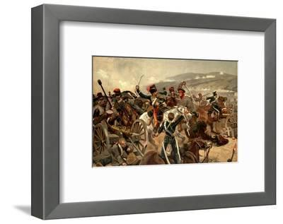 Illustration of the Charge of the Light Brigade at Balaclava During the Crimean War