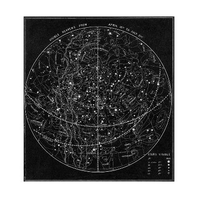 Illustration of the Constellations--Giclee Print
