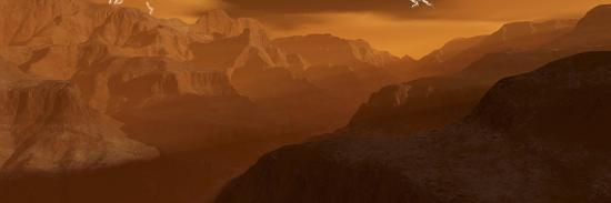Illustration of the Maxwell Montes Mountain Range on the Planet Venus-Stocktrek Images-Photographic Print