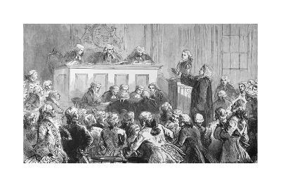 Illustration of the Trial of Peter Zenger in New York--Giclee Print