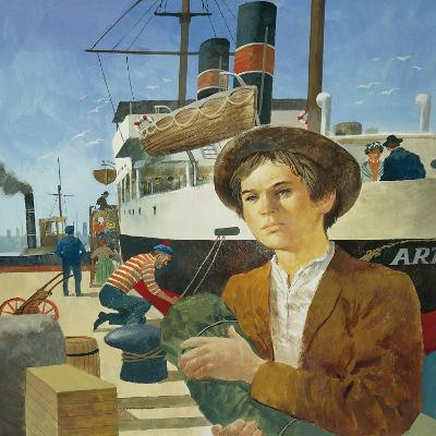 Illustration Representing Boy in a Port from 'Heart' by Edmondo De Amicis--Giclee Print
