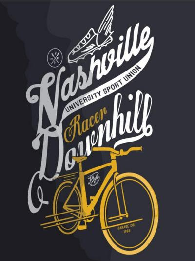Illustration Sketch Bicycle With Type-studiohome-Art Print