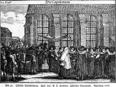 "Illustration Taken from the ""Jüdisches Ceremonial--Giclee Print"