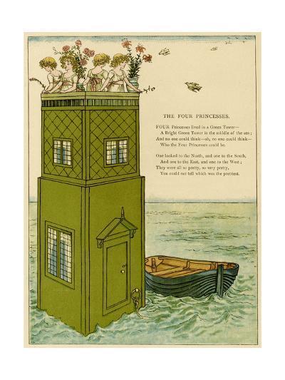 Illustration, the Four Princesses-Kate Greenaway-Giclee Print