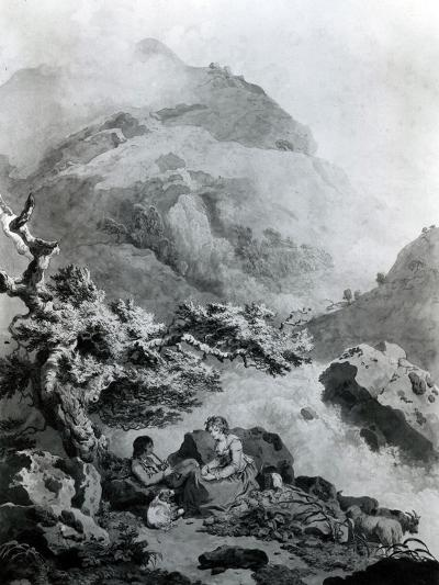 Illustration to Jean-Jacques Rousseau's 'Nouvelle Héloise' 1786 (Pen and Ink with W/C)-Francis Wheatley-Giclee Print