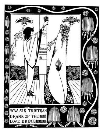 Illustration to the Book Le Morte D'Arthur by Sir Thomas Malory-Aubrey Beardsley-Giclee Print