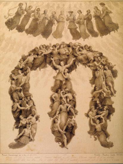 Illustration to the Divine Comedy by Dante Alighieri (Paradiso Canto XVII)-Francesco Scaramuzza-Giclee Print