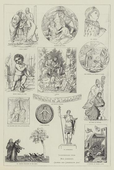 Illustrations from Mrs Jameson's Sacred and Legendary Art--Giclee Print