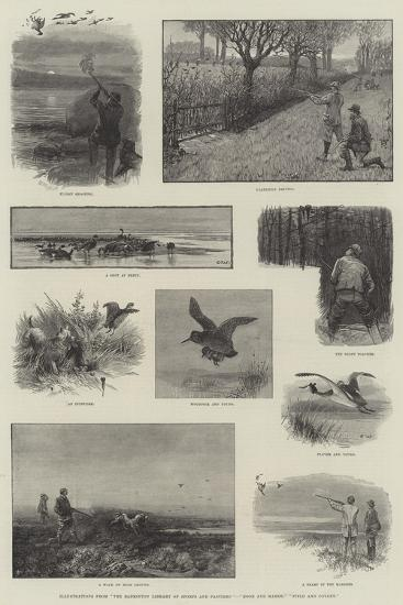 Illustrations from The Badminton Library of Sports and Pastimes, Moor and Marsh, Field and Covert-Charles Whymper-Giclee Print