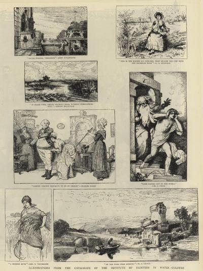 Illustrations from the Catalogue of the Institute of Painters in Water-Colours--Giclee Print