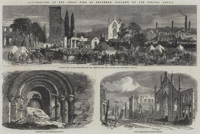 Illustrations of the Great Fire at Enschede, Holland--Giclee Print