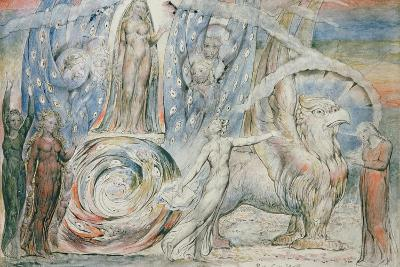 Illustrations to Dante's 'Divine Comedy', Beatrice Addressing Dante from the Car-William Blake-Giclee Print
