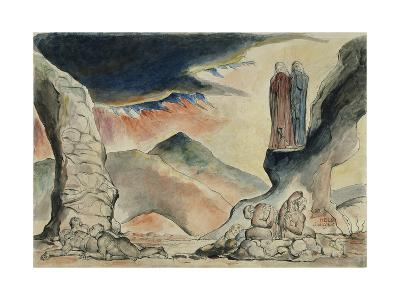 Illustrations to Dante's 'Divine Comedy', the Pit of Disease: the Falsifiers-William Blake-Giclee Print
