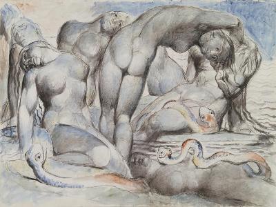 Illustrations to Dante's 'Divine Comedy', the Punishment of the Thieves-William Blake-Giclee Print