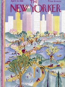 The New Yorker Cover - April 21, 1928 by Ilonka Karasz