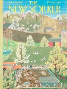 The New Yorker Cover - April 29, 1961 by Ilonka Karasz