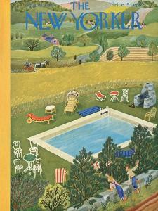 The New Yorker Cover - August 10, 1946 by Ilonka Karasz