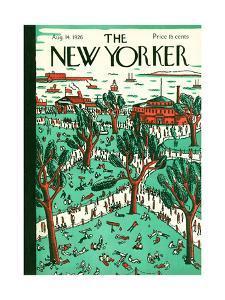 The New Yorker Cover - August 14, 1926 by Ilonka Karasz