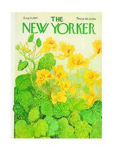 The New Yorker Cover - August 14, 1971 by Ilonka Karasz