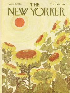 The New Yorker Cover - August 24, 1968 by Ilonka Karasz