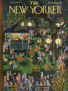The New Yorker Cover - August 4, 1956 by Ilonka Karasz