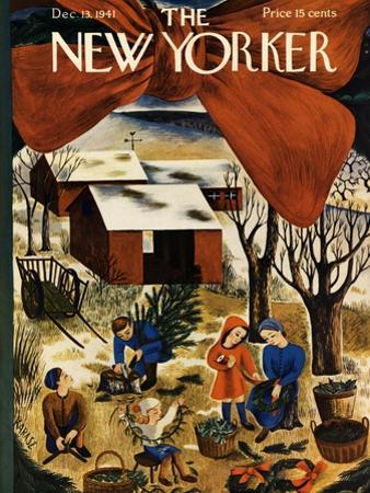 The New Yorker Cover - December 13, 1941 by Ilonka Karasz