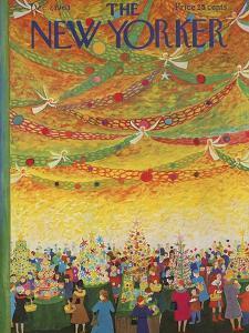 The New Yorker Cover - December 7, 1963 by Ilonka Karasz