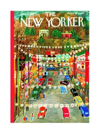 The New Yorker Cover - December 9, 1950 by Ilonka Karasz