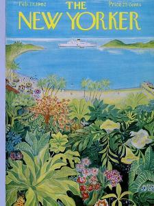 The New Yorker Cover - February 17, 1962 by Ilonka Karasz