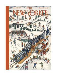 The New Yorker Cover - January 23, 1937 by Ilonka Karasz