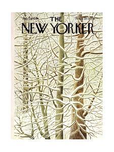 The New Yorker Cover - January 29, 1966 by Ilonka Karasz