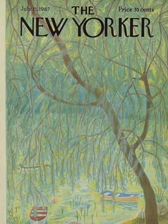The New Yorker Cover - July 15, 1967 by Ilonka Karasz