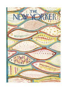 The New Yorker Cover - July 16, 1966 by Ilonka Karasz