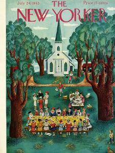 The New Yorker Cover - July 24, 1943 by Ilonka Karasz
