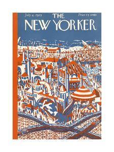 The New Yorker Cover - July 4, 1925 by Ilonka Karasz