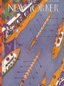 The New Yorker Cover - June 25, 1927 by Ilonka Karasz
