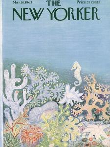 The New Yorker Cover - March 16, 1963 by Ilonka Karasz
